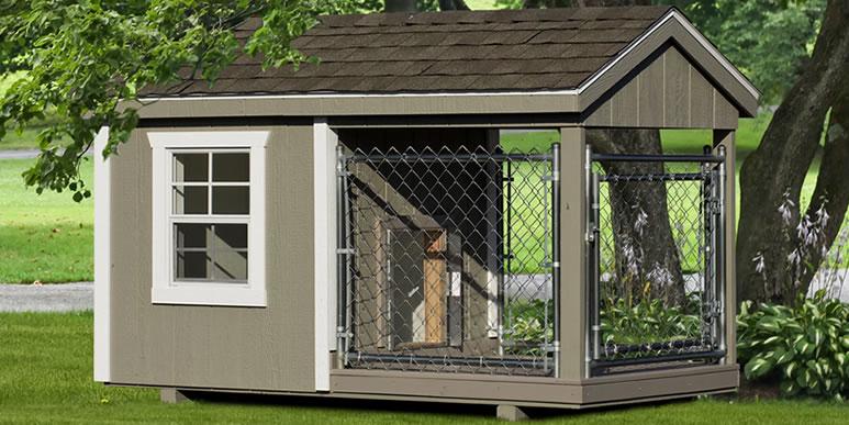 Как правильно построить будку и вольер для собаки